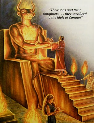 child sacrifice to Canaanite gods