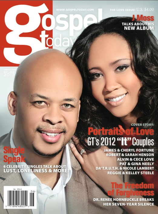Here are James and his wife Cheryl on the cover of