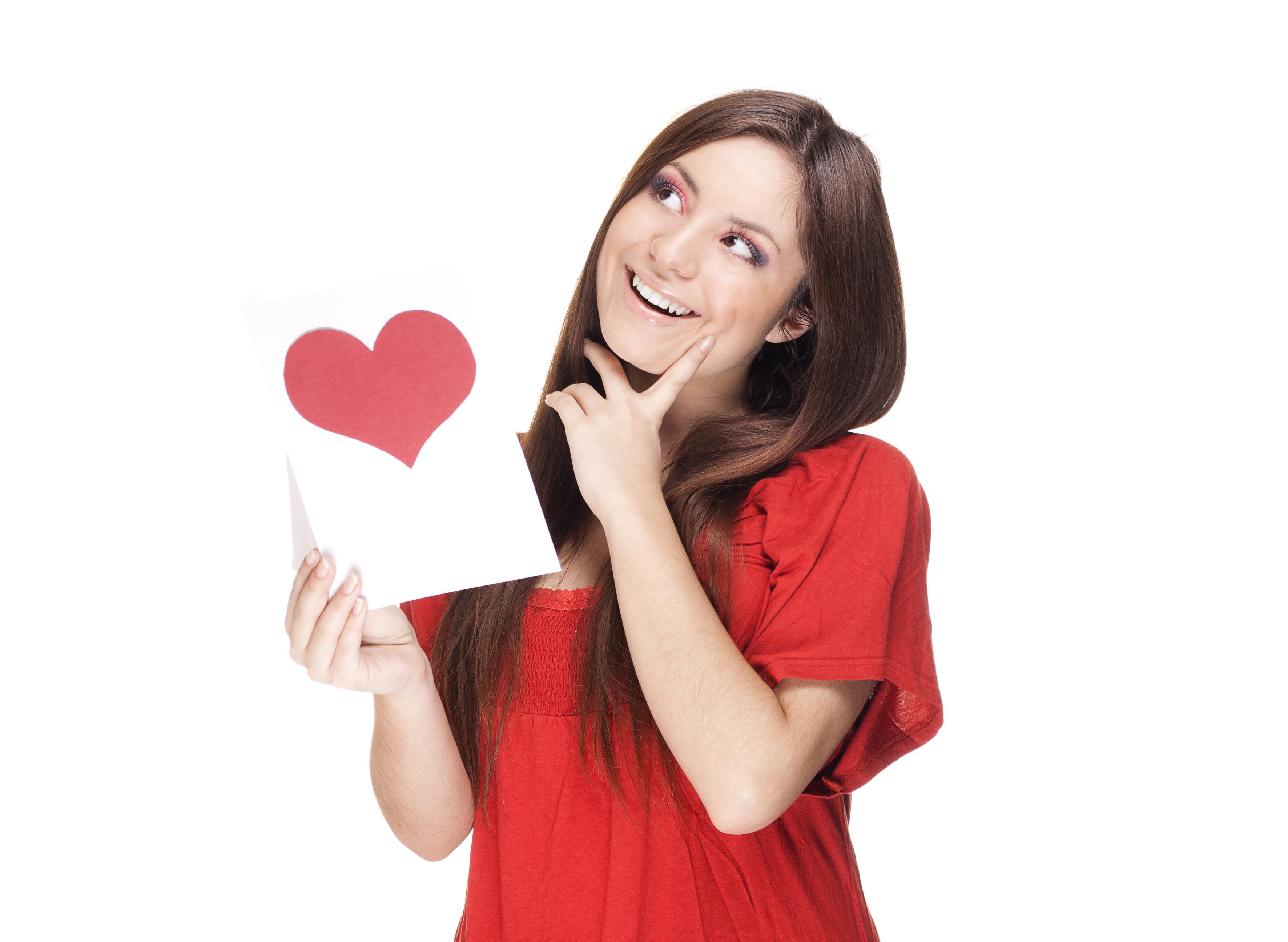 Девушка держит открытку, фото слез про